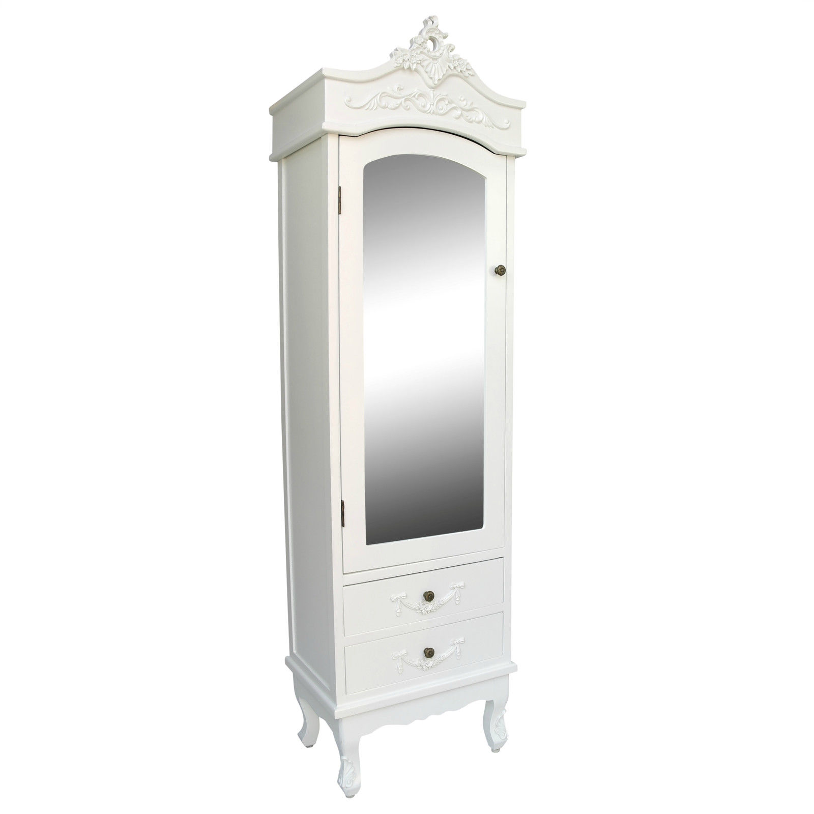 French White Single Door White Armoire Furniture La