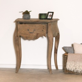 French White 2 Drawer Bedside Table   - La Maison Chic Furniture Company Online
