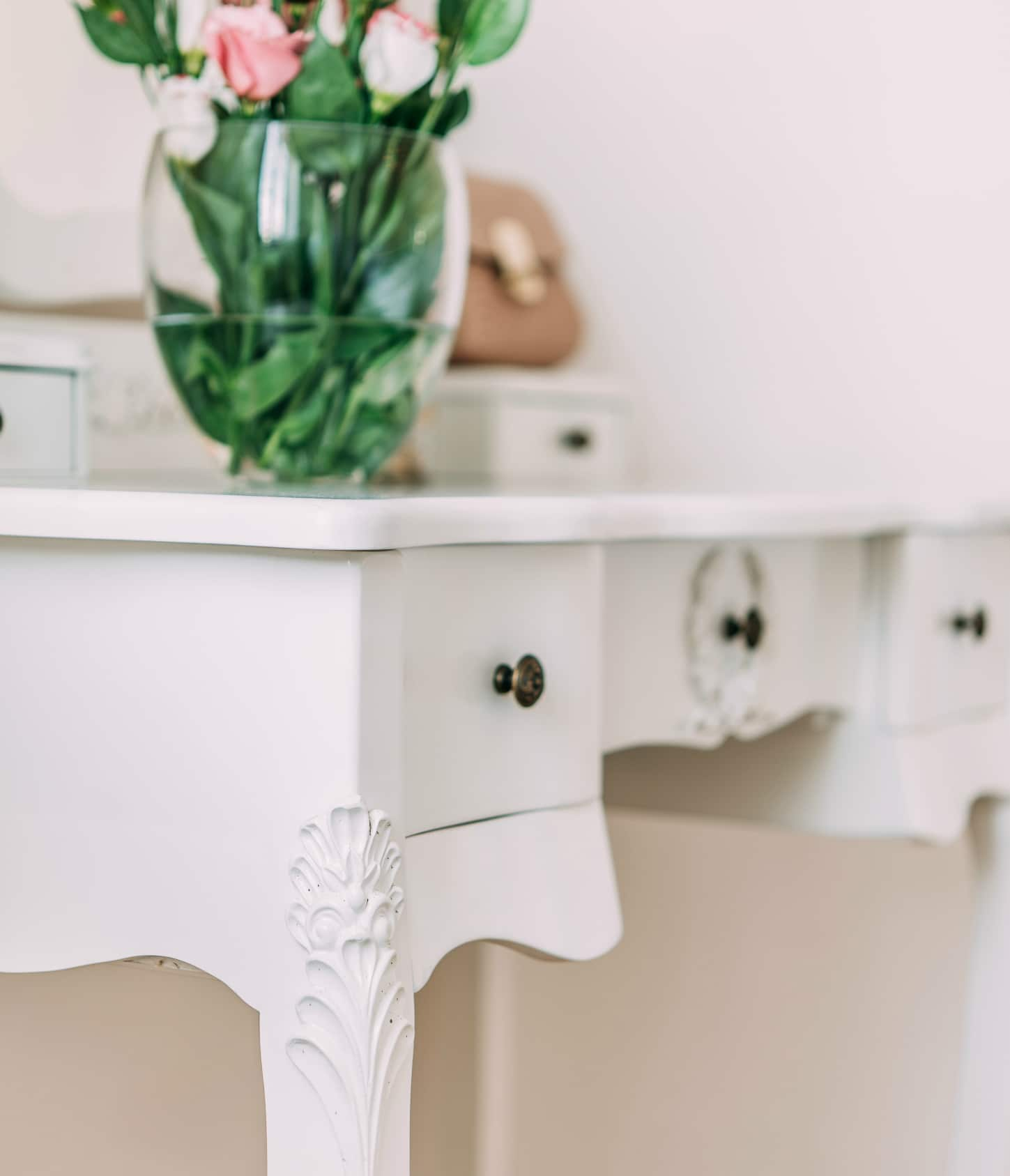 French style white dressing table and stool furniture la for French white dressing table