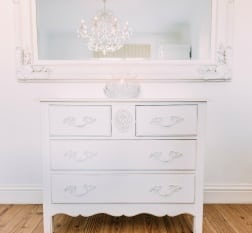 French White 2 Over 2 Carved Wooden 4 Drawer Chest   - La Maison Chic Furniture Company Online