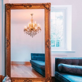 Francoise Extra Large Ornate Antiqued Gold Mirror   - La Maison Chic Furniture Company Online