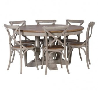 Buy Wooden Elm Top Dining Table UK