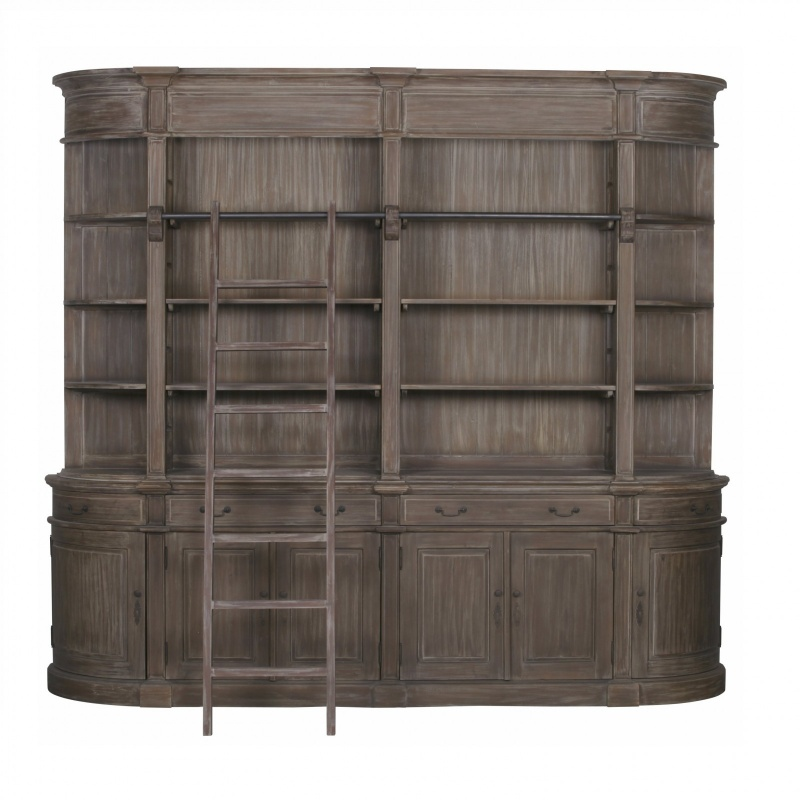 Rivieren Large Bookcase with Ladder   - La Maison Chic Furniture Company Online