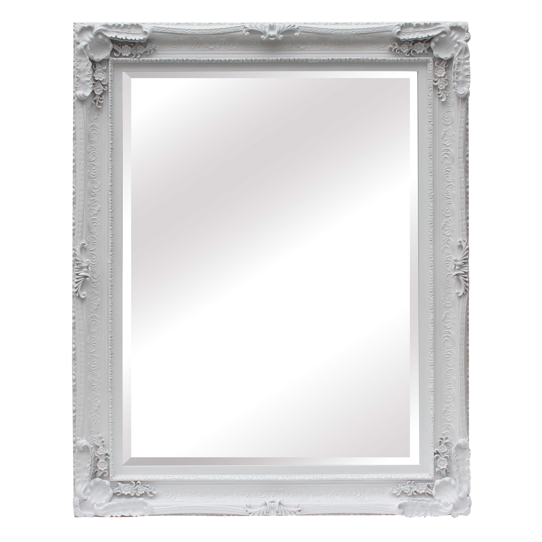 Maddelena Large White Mirror Furniture La Maison Chic