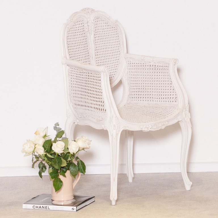 French Rattan Bedroom Chair Furniture, White Wicker Bedroom Furniture Uk