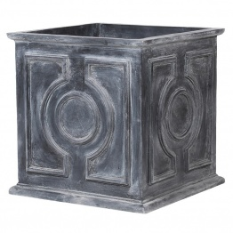 Aged Lead Eff Medium Square Planter   - La Maison Chic Furniture Company Online