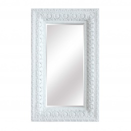 Celeste Extra Large Distressed White Mirror   - La Maison Chic Furniture Company Online
