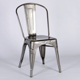 Vintage Style Metal Steel Industrial Cafe Dining Chair   - La Maison Chic Furniture Company Online