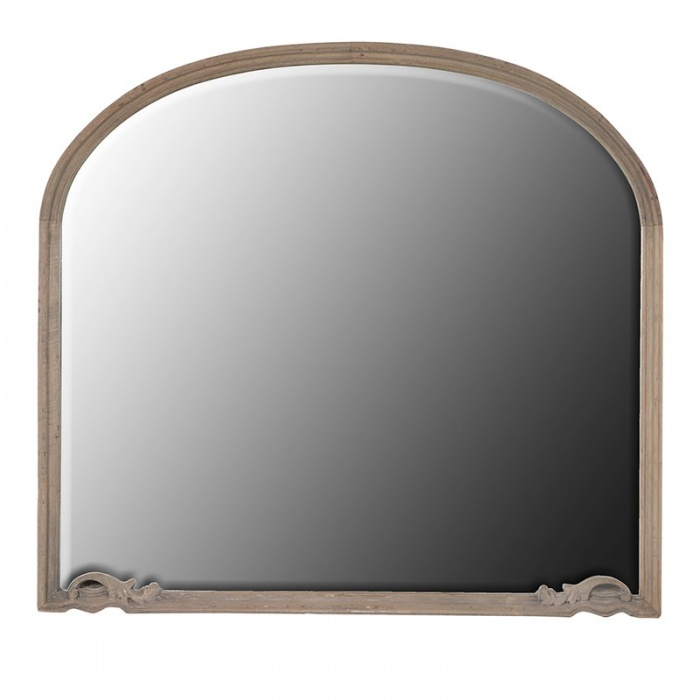 Amaury small overmantel mirror furniture la maison chic for Tall gold mirror