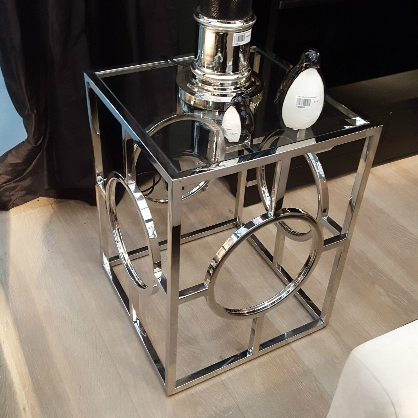 Square Metal Frame End Table Furniture La Maison Chic