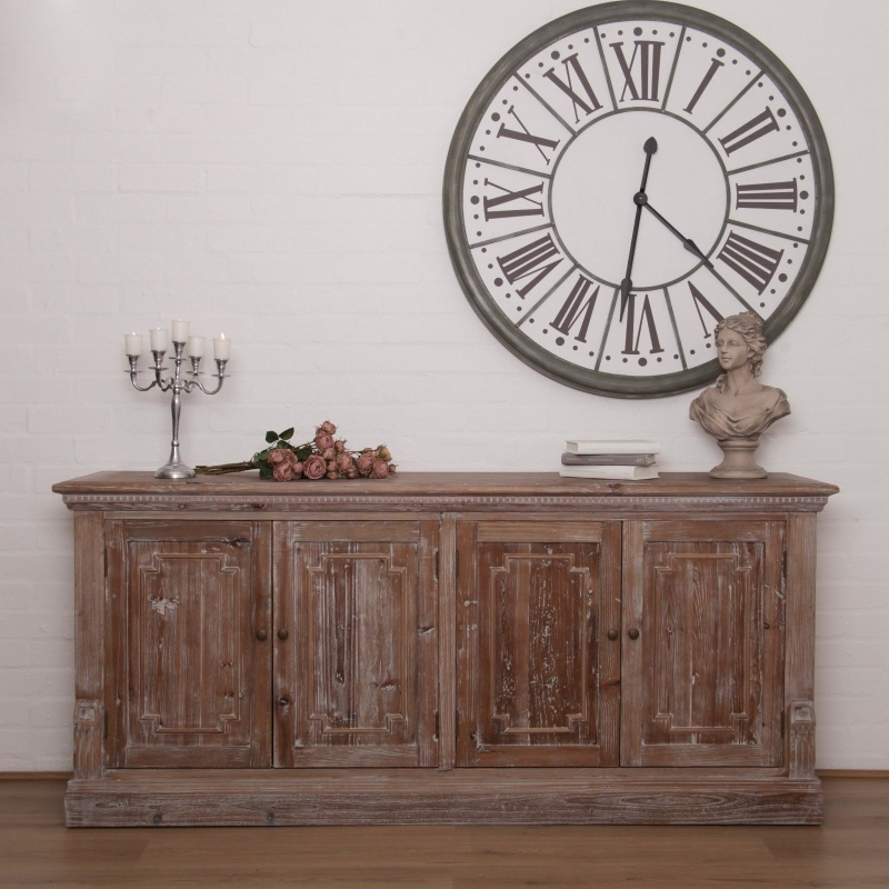 Aged Dafne Wooden Rustic Large Sideboard   - La Maison Chic Furniture Company Online