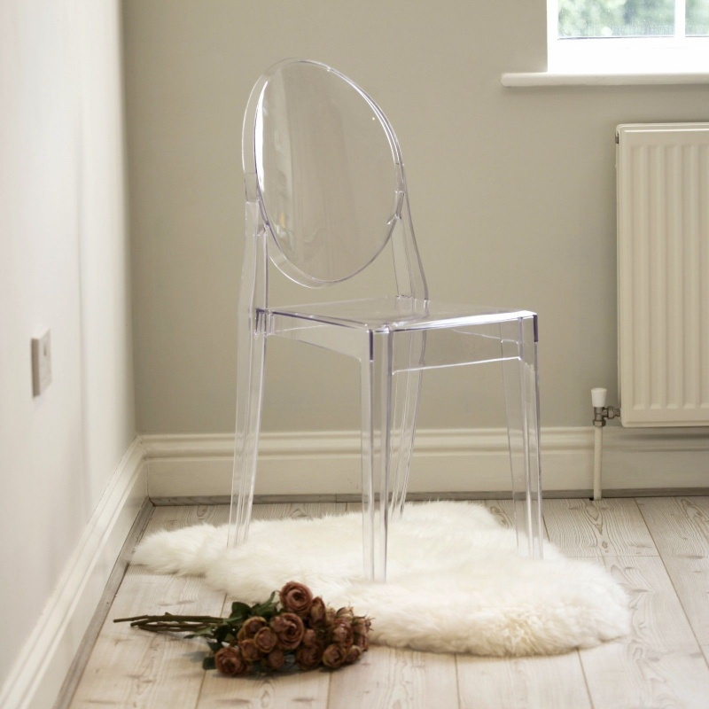 Clear Ghost Transparent Contemporary Dining Chair   - La Maison Chic Furniture Company Online