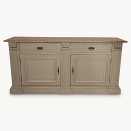 Distressed Grey Sideboard With Oak Top   - La Maison Chic Furniture Company Online