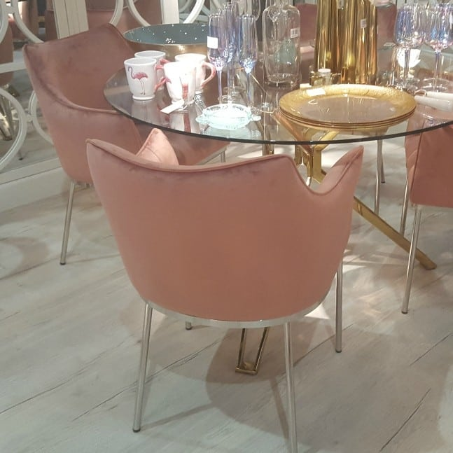 Rose Pink Dining Chair Furniture La Maison Chic Luxury