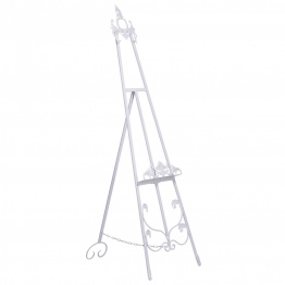 French Style White Metal Easel   - La Maison Chic Furniture Company Online
