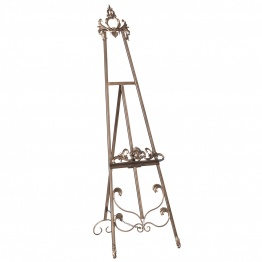 French Style Antiqued Gold Metal Easel   - La Maison Chic Furniture Company Online