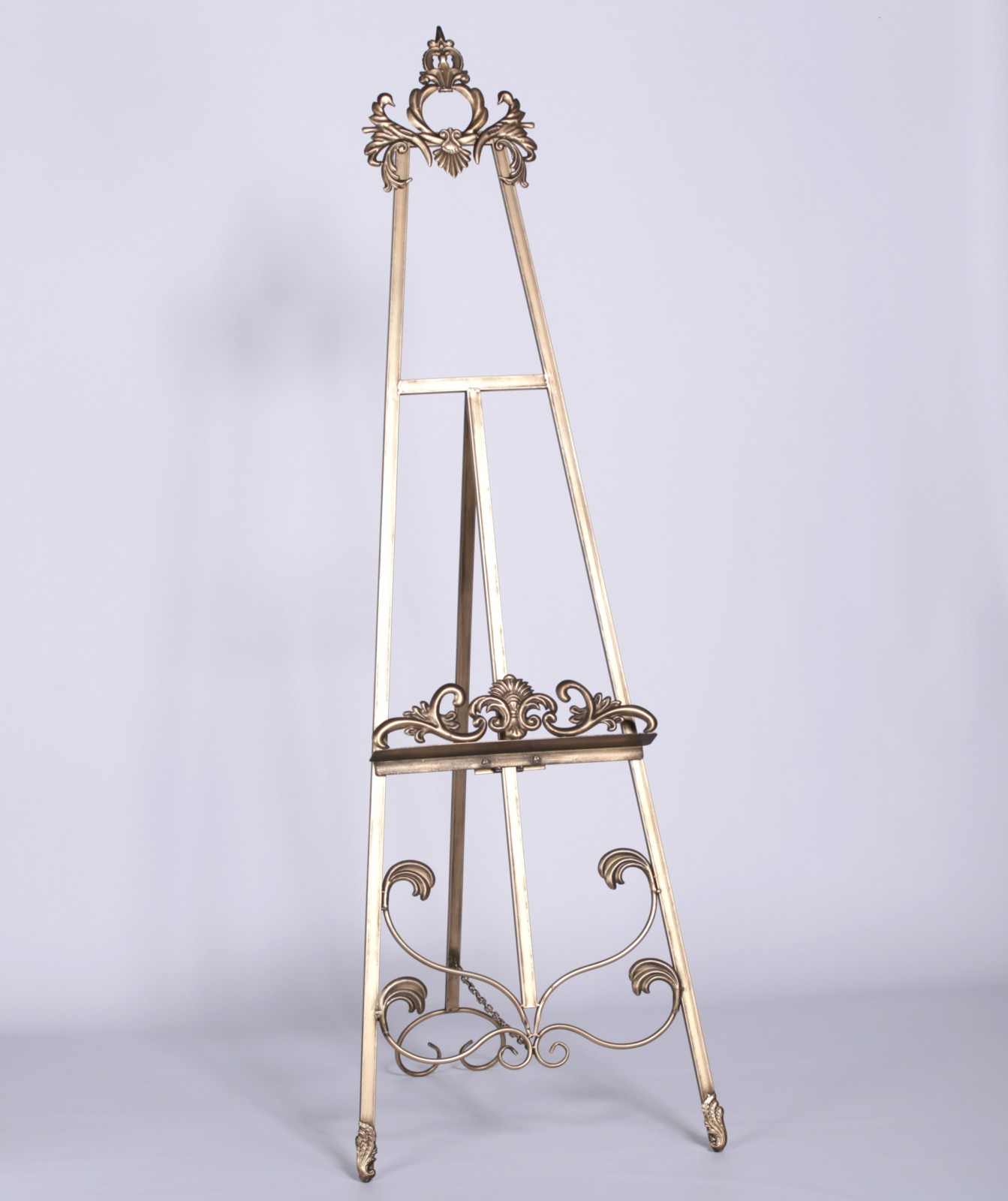 French Style Antiqued Gold Metal Easel Furniture La