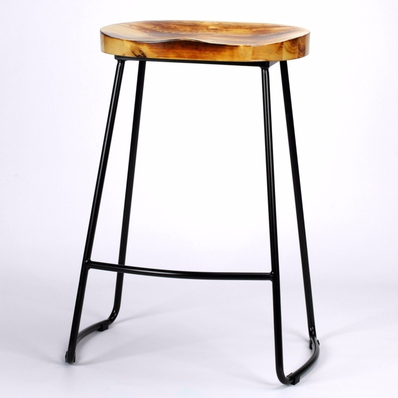 Stoos Metal Tractor Seat Stools : Industrial tractor seat style metal bar stool furniture