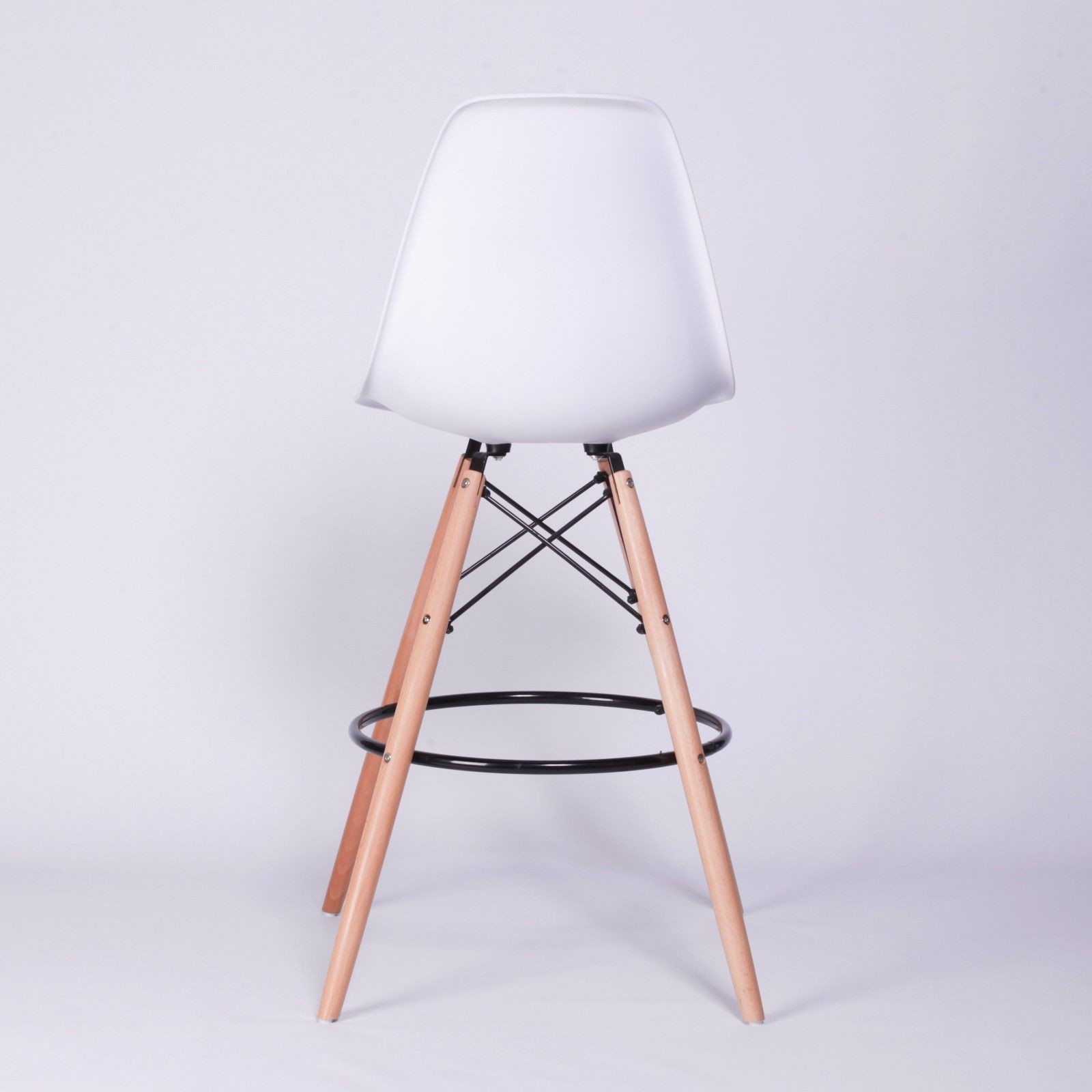 Scandi Eiffel Inspired White Bar Stool Furniture La