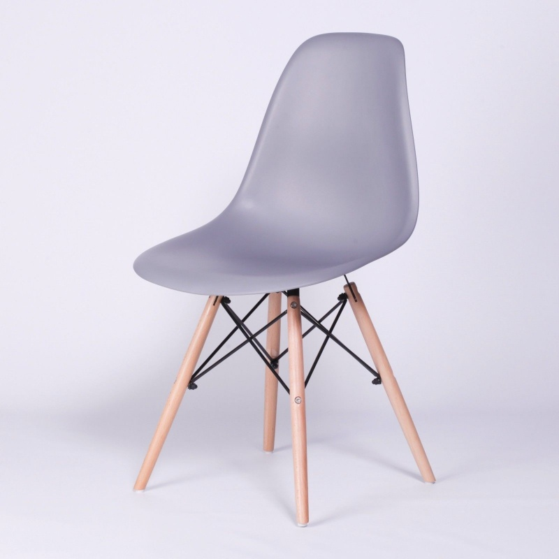 Eiffel Moulded Dark Grey Modern Dining Chair   - La Maison Chic Furniture Company Online
