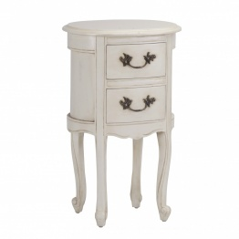 Aged Dauphine Ivory Bedside   - La Maison Chic Furniture Company Online
