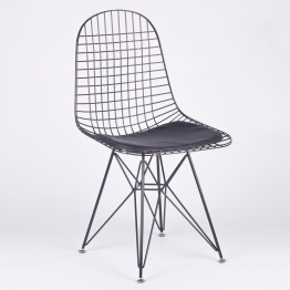 Black Mesh Eiffel Style Wire Dining Chair   - La Maison Chic Furniture Company Online