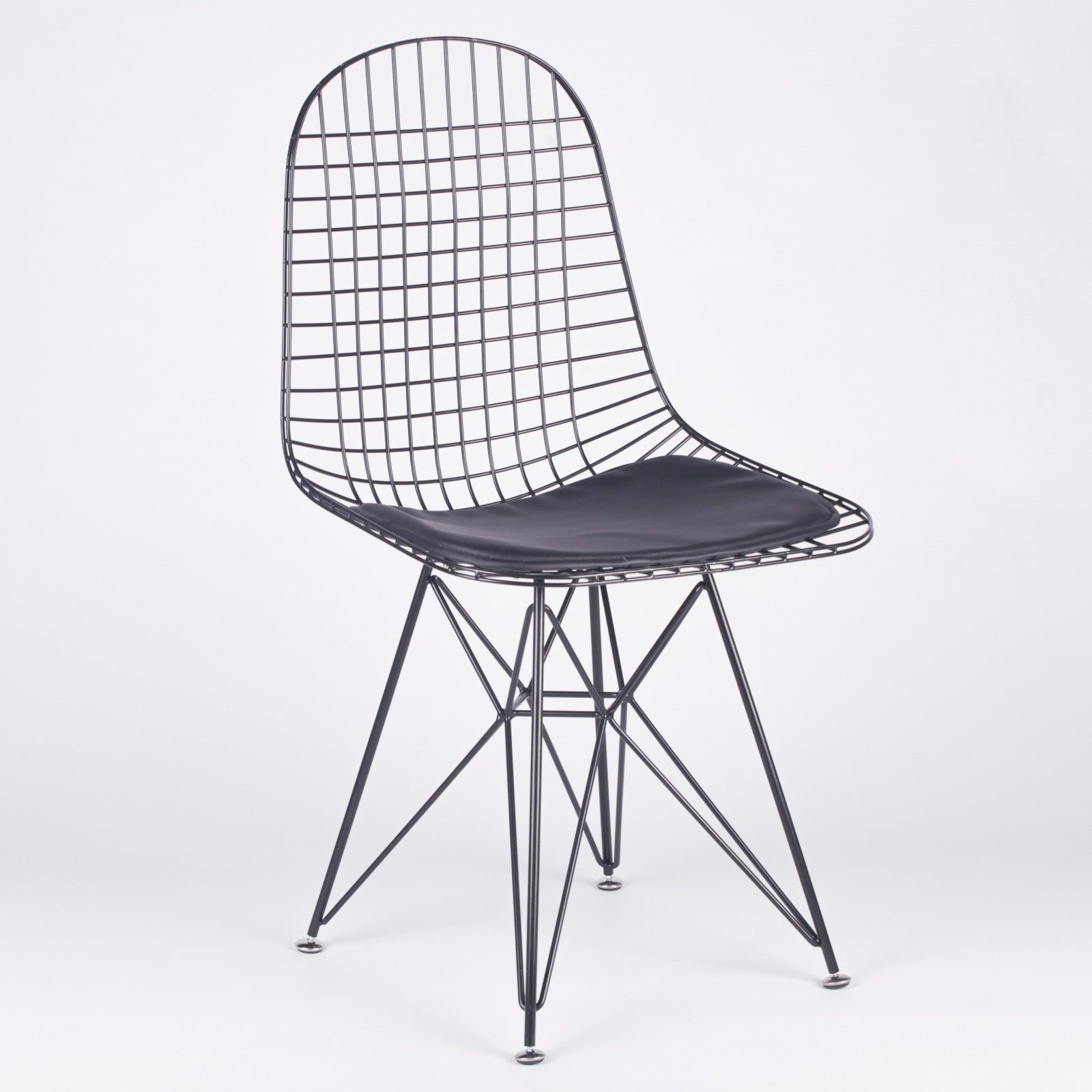 Black Mesh Eiffel Style Wire Dining Chair Furniture La